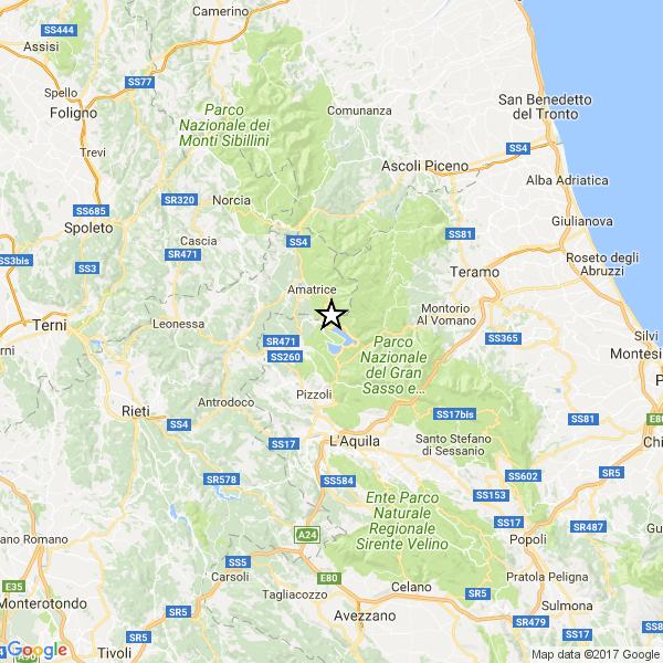 Scosse di terremoto a Campotosto