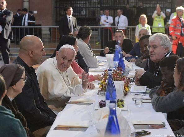 A pranzo con il Papa