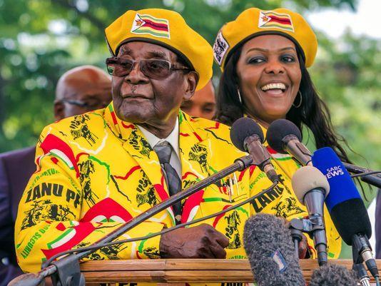Il presidente Mugabe