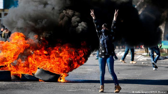 Proteste a Ramallah.