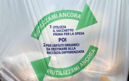 Da gennaio nuovi sacchetti per la spesa biodegradabili ea pagamento
