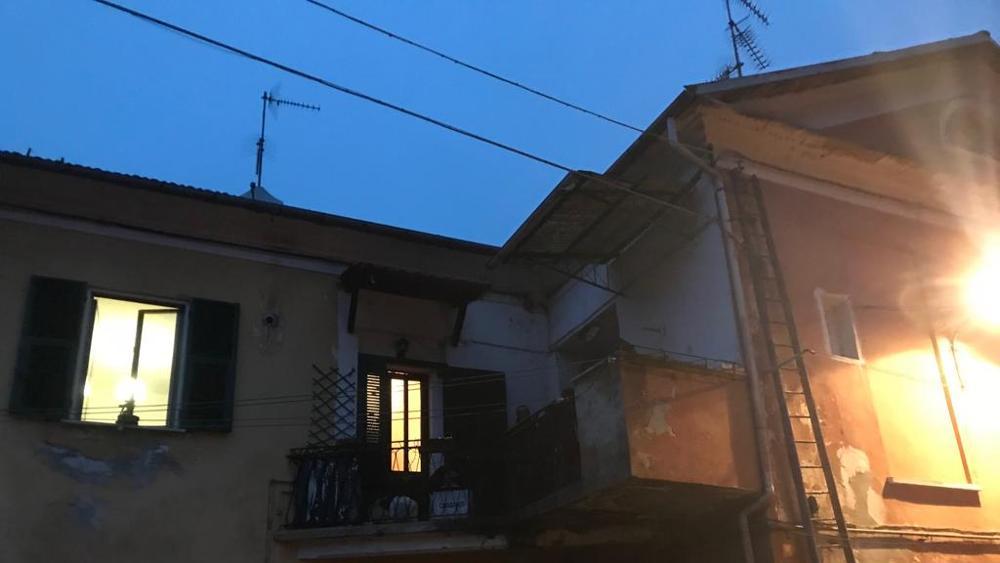 La casa in cui è morta la famiglia della provincia di Alessandra.