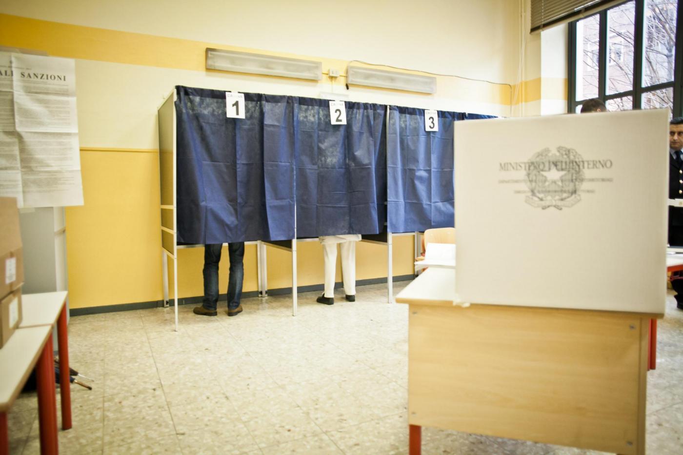 Stefano De Grandis/Lapresse Milano 24/02/13 Elezioni 2013, votazioni