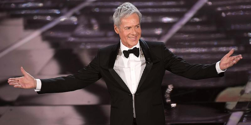 Italian singer and Sanremo Festival artistic director Claudio Baglioni on stage during the 68th Sanremo Italian Song Festival at the Ariston theatre in Sanremo, Italy, 06 February 2018. The 68th edition of the television song contest runs from 06 to 10 February. ANSA/CLAUDIO ONORATI