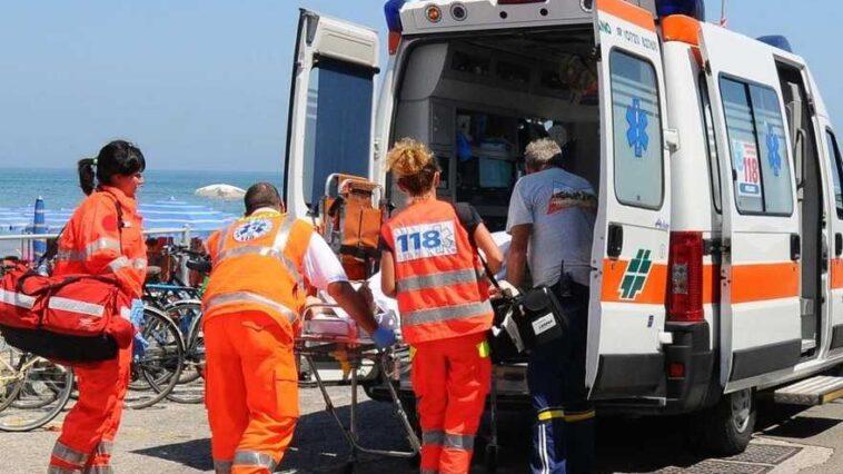 Ambulanza in spiaggia