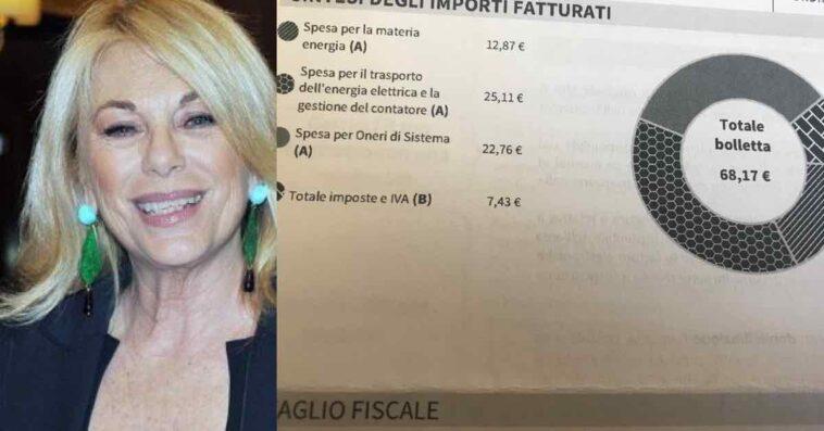 """Rita Dalla Chiesa condivide la bolletta suoi social e tuona contro l'Enel: """"Vergognatevi"""""""