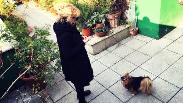 Luciana Littizzetto e il suo cane Gigia.