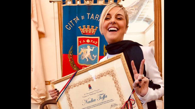 Nadia Toffa, cittadina onoraria di Taranto.