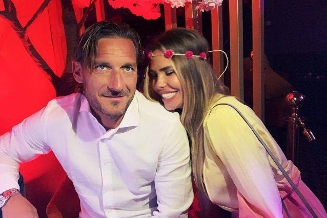 Francesco Totti e Ilary Blasi.