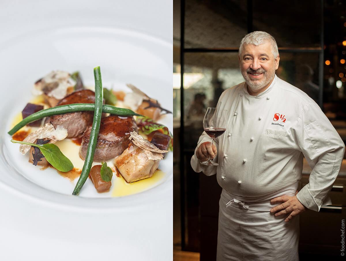 Qual è il menù dello chef Umberto Bombana, noto in tutto il