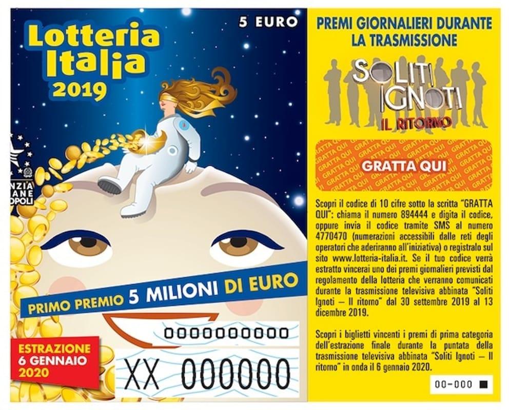 Biglietto Lotteria Italia 2019-2020
