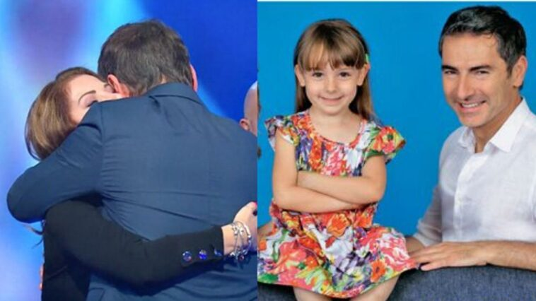 Marco Liorni e la figlia Viola