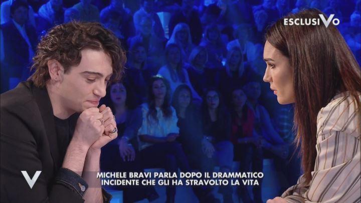 Michele Bravi a Verissimo