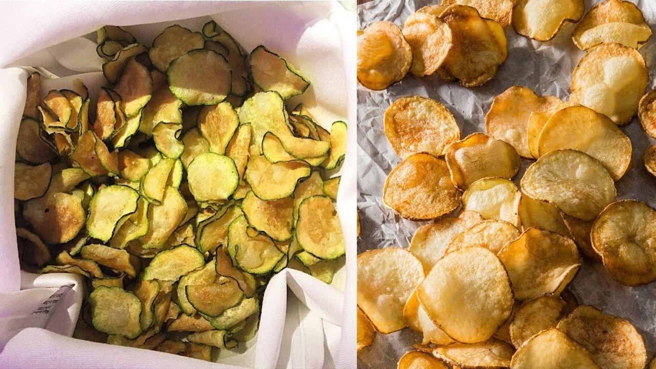 Chips patate verdure al forno