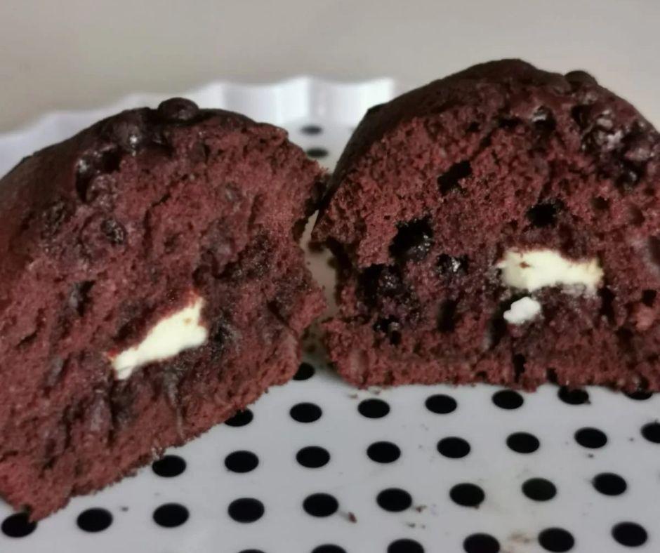 Interno del Muffin con Gocce di Cioccolato
