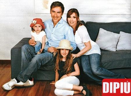 Marco Liorni e la sua famiglia