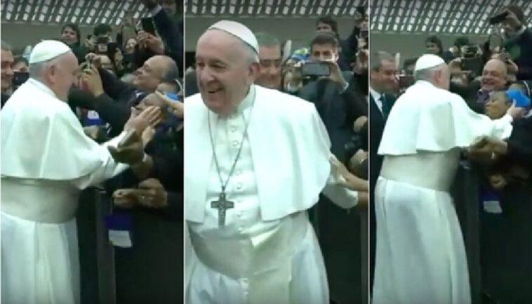 papa francesco suora africana basta che non mordi