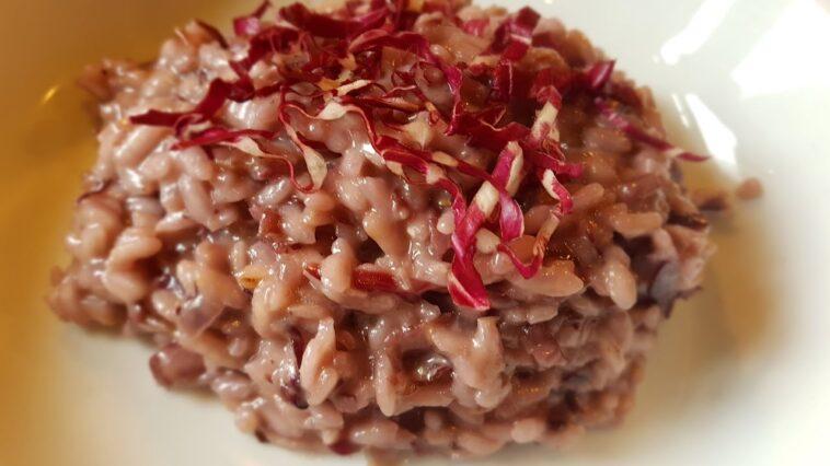 risotto radicchio e gorgonzola