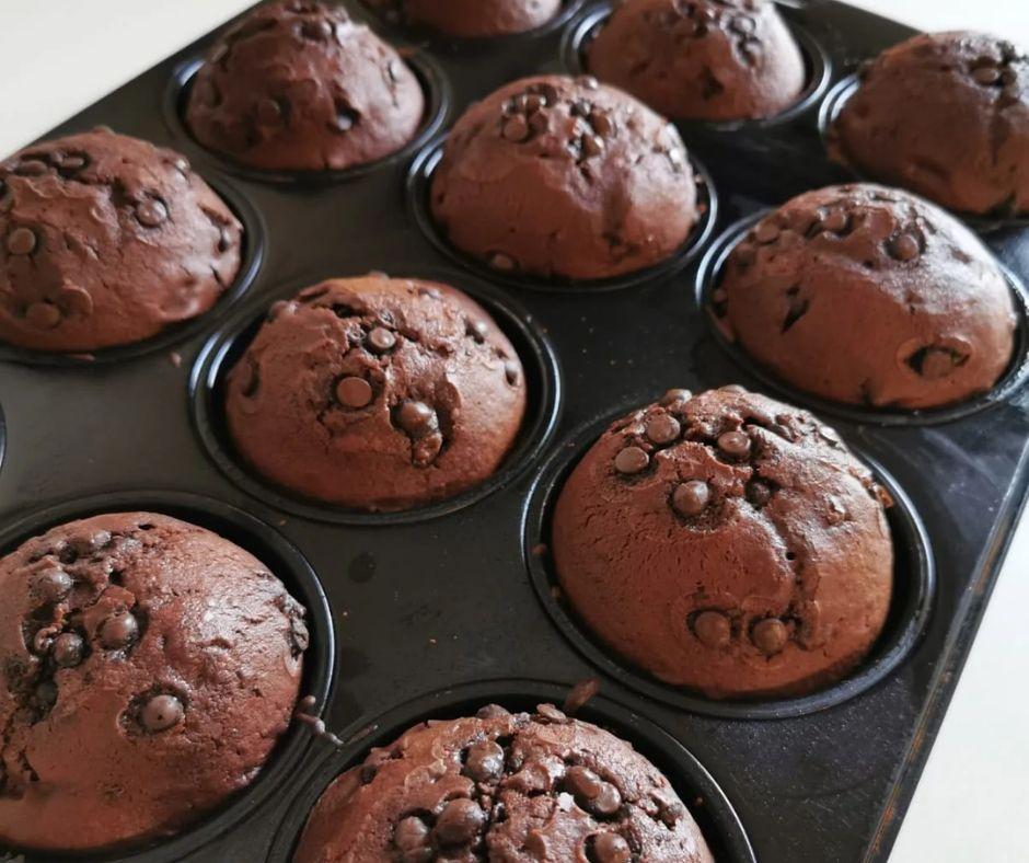 Vassoio con Muffin al Cioccolato