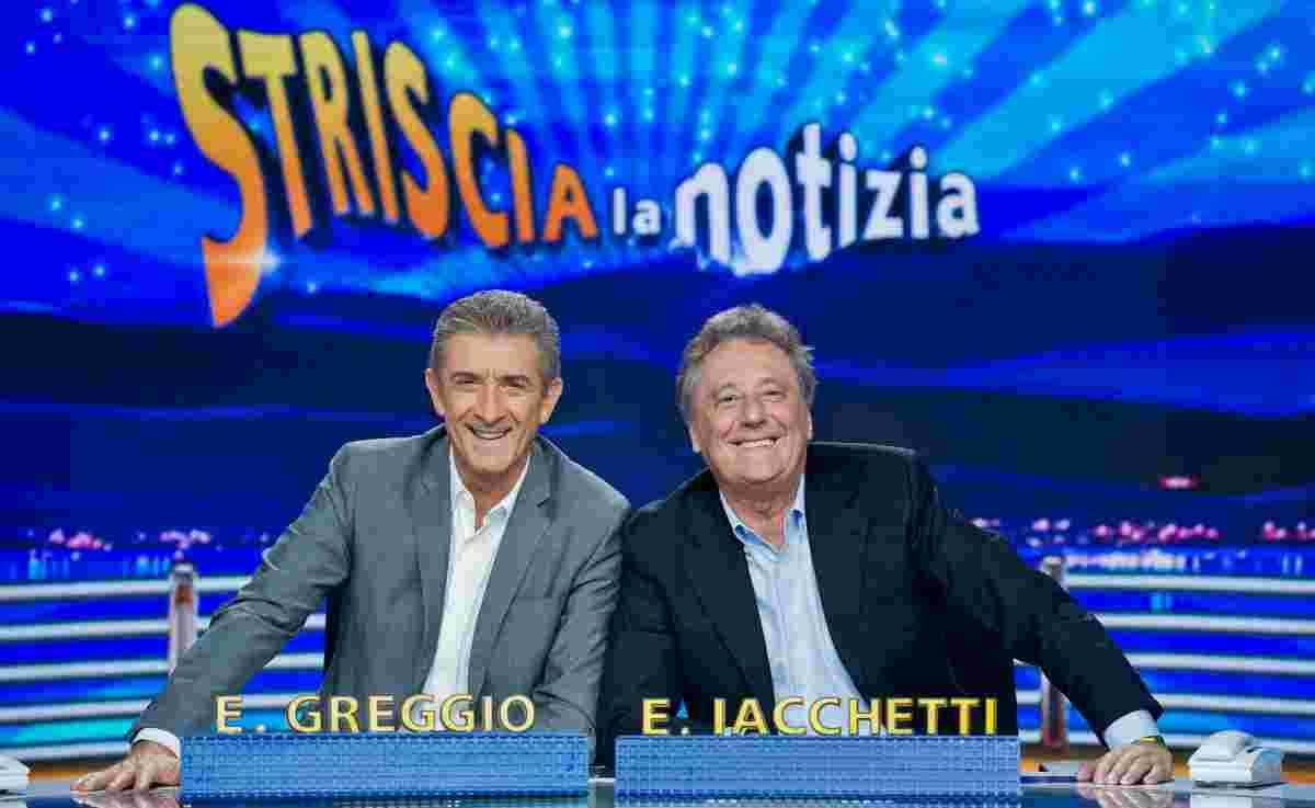 zio Greggio e Enzo Iacchetti a Striscia La Notizia