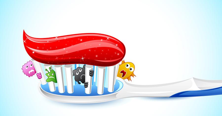 Germi sugli spazzolini