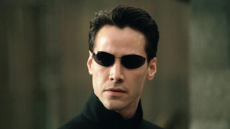 Kenau Reeves nei panni di Neo in Matrix