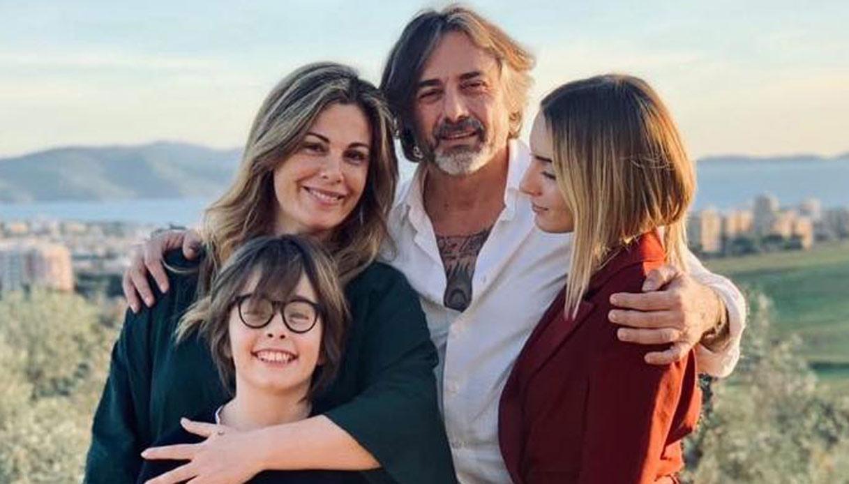 Vanessa Incontrada e Rossano Laurini con i figli