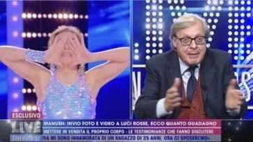 Vittorio Sgarbi e Barbara D'Urso