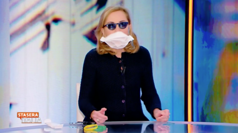 Barbara Palombelli mascherina