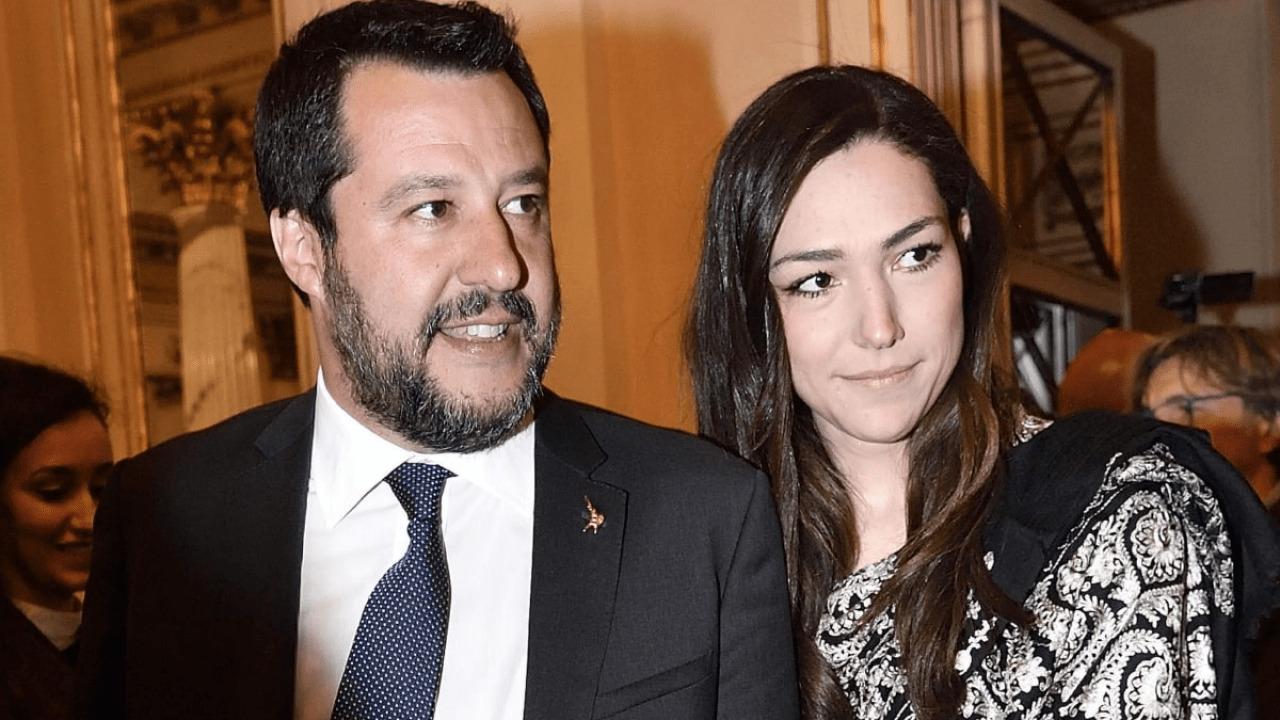 Francesca Verdini e Matteo Salvini