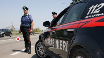 Posto di blocco carbinieri