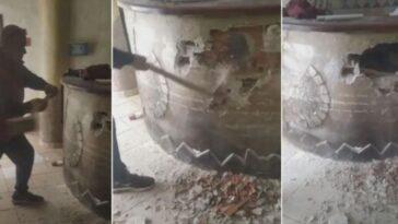 distrugge pizzeria a martellate