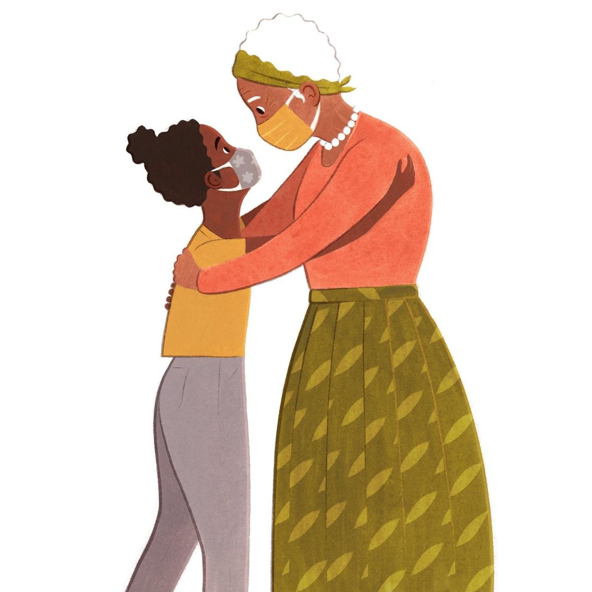 abbracci in pandemia