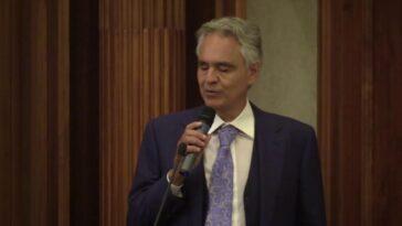 Andrea Bocelli al convegno covid-19