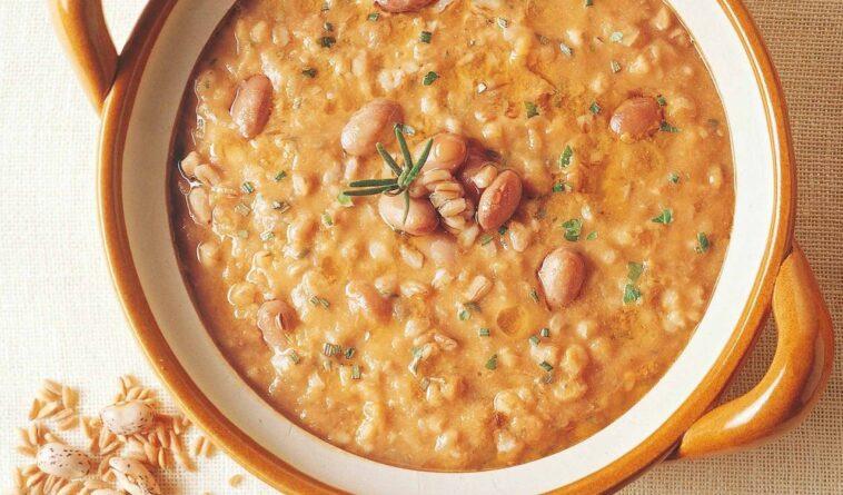 zuppa fagioli e farro